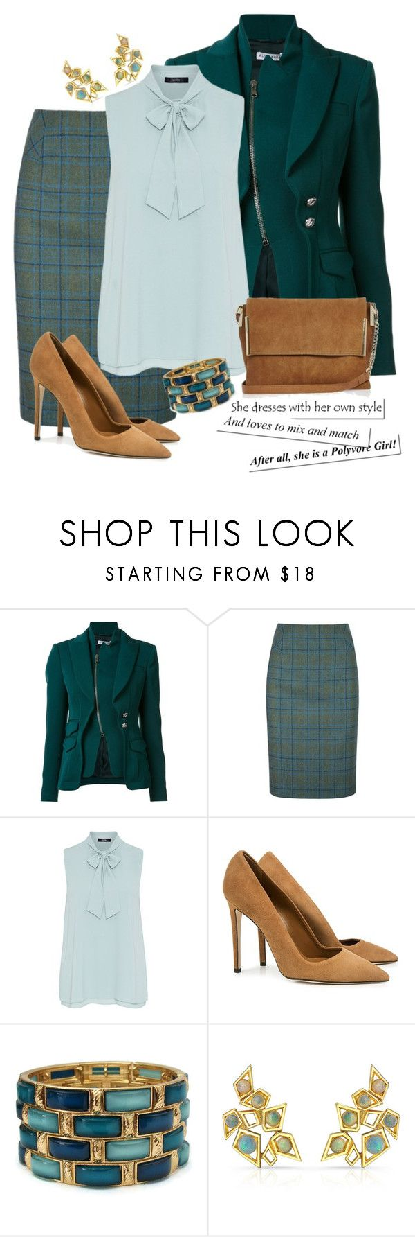 """""""...a Polyvore Girl ❤️"""" by curvygirlamy ❤ liked on Polyvore featuring Altuzarra, DUBARRY, Hallhuber, Dee Keller, Ron Hami and River Island"""