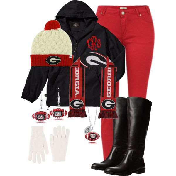 Cold Georgia Football Game.. haha I might need this for next weekend!