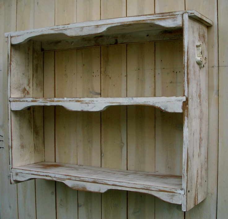 Hanging Wood Shelf - Shabby Furniture, Chic Cottage, French Country, The Nora Shelf - Antique Color Choice. $260.00, via Etsy.