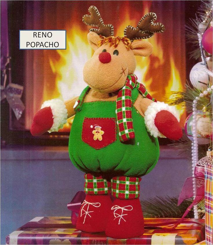 patron para elaborar lindo reno navideño