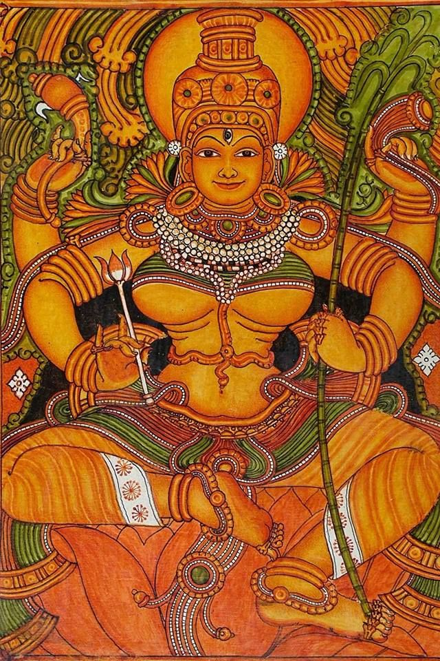 Lalitha Tripurasundari, Kerala mural