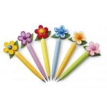 Promotional Ballpen flower 6 pcs set assorted