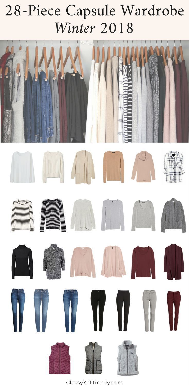 My Winter 2017-2018 Capsule Wardrobe - see all the clothes in my closet and the ... 1