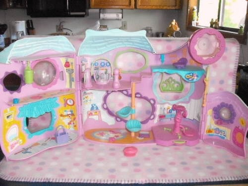 Hasbro Littlest Pet Shop LPS Pet Play Center Gym Accessories Lot Playset Cute | eBay