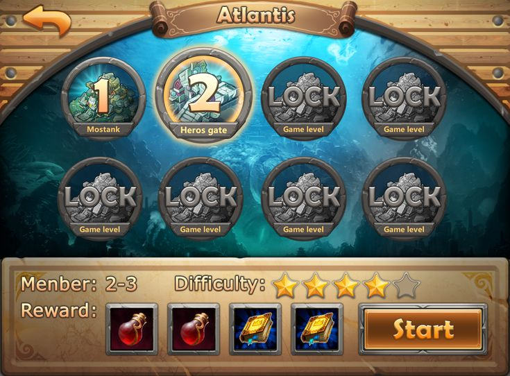 Atlantis game game user interface gui ui | Create your own roleplaying game material w/ RPG Bard: www.rpgbard.com | Writing inspiration for Dungeons and Dragons DND D&D Pathfinder PFRPG Warhammer 40k Star Wars Shadowrun Call of Cthulhu Lord of the Rings LoTR + d20 fantasy science fiction scifi horror design | Not Trusty Sword art: click artwork for source