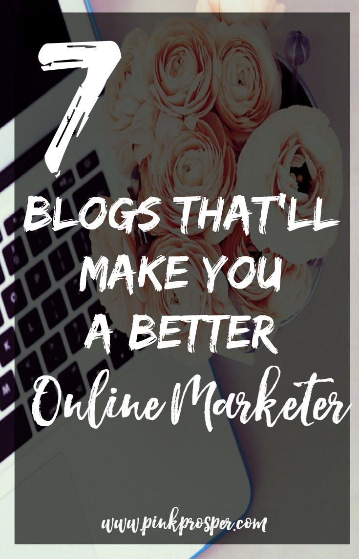 Reading these 7 blogs everyday is the quickest way to become an amazing online marketer.  A must have guide!