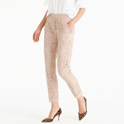 LACE PANT  J.Crew, fashion, clothing, clothes, style, women