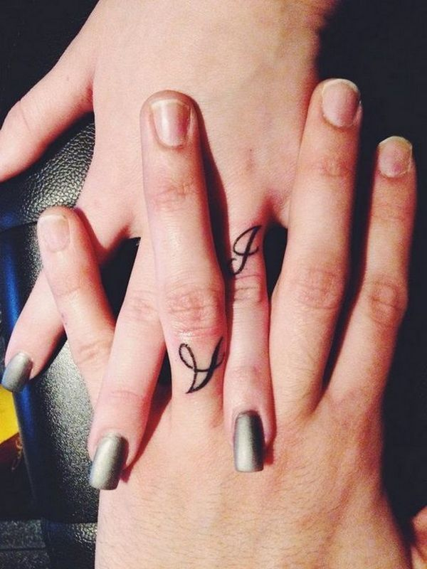 Wedding Ring Tattoos / http://www.himisspuff.com/wedding-band-ring-tattoos/