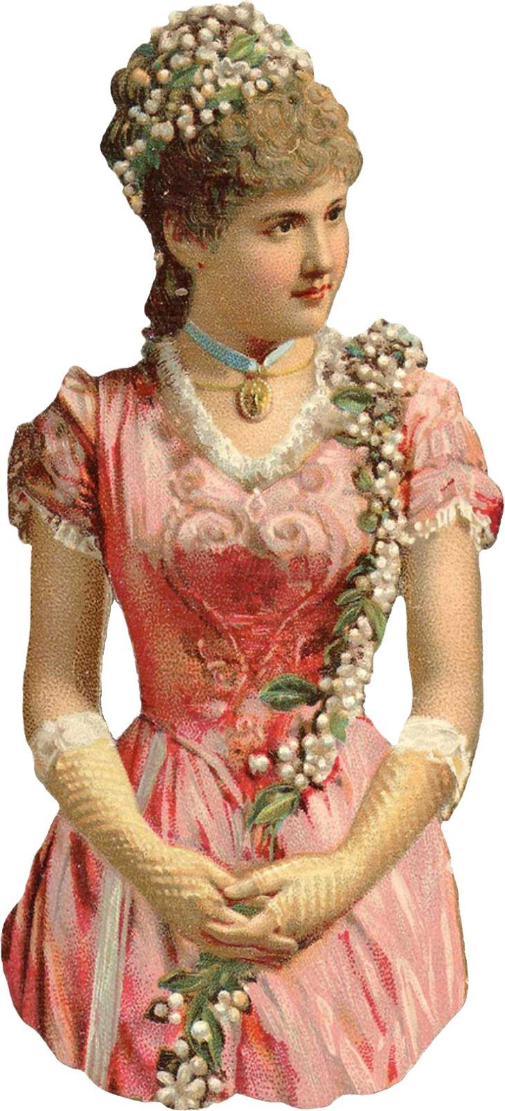 Wings of Whimsy: Victorian Scaps - Glove Lady 1 #vintage #ephemera #printable #freebie #scrap