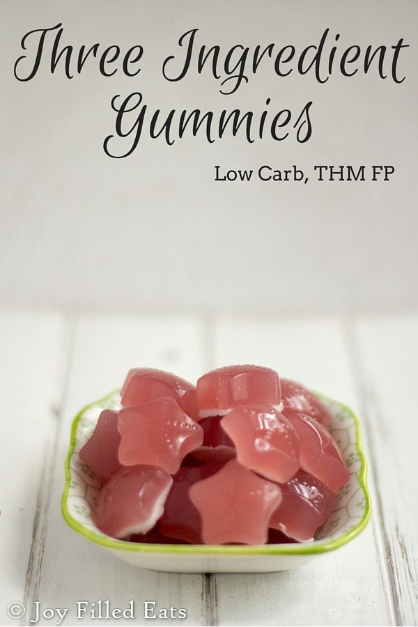 Three Ingredient Gummies - My kids gobble up gummies faster than I can make them. I wanted an easier method so I made these 3 ingredient gummies. We all loved them. Low carb & THM FP.