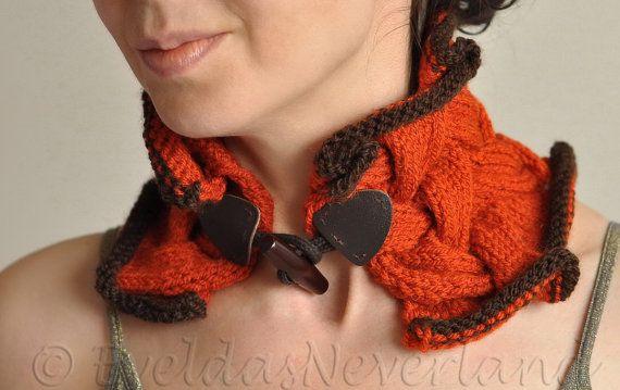 Hand knit designer rufflike braided