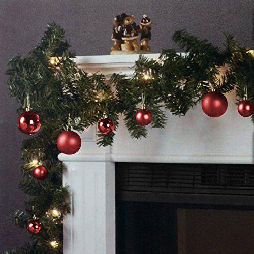 Weihnachtsgirlande Tannengirlande Lichterkette 270cm 180 Spitzen 20 Lampen 16 Kugeln - Rot Multistore 2002 http://www.amazon.de/dp/B015IZXEUY/ref=cm_sw_r_pi_dp_2G3pwb0T7TR9T
