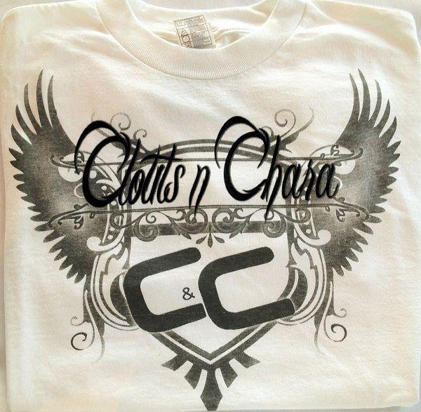 Cloutsnchara Wings White T-Shirt