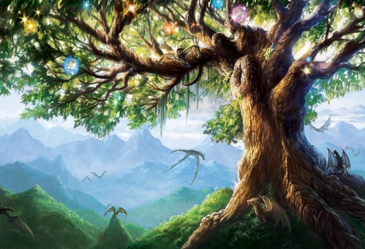 Norse Mythological tree  The Norse Legend of the World Tree - Yggdrasil