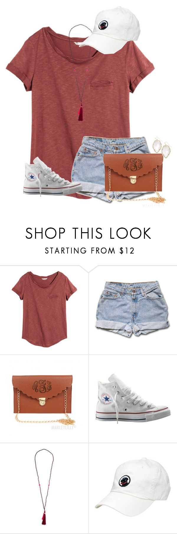 """""""ARRGH *d*"""" by katew4019 ❤ liked on Polyvore featuring мода, H&M, Converse и Kendra Scott"""