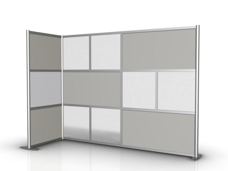 100 l x 35 w x 75 high l shaped room divider translucent gray opaque modern room - Opaque room divider ...