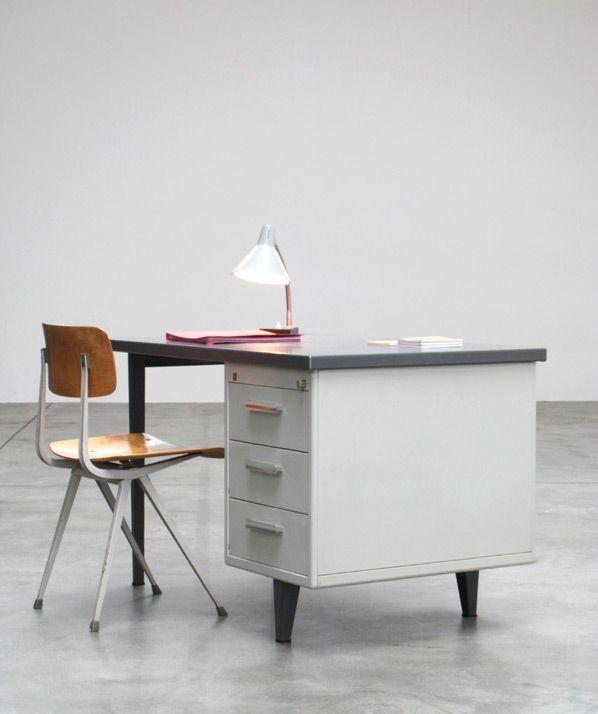 Andre Cordemeijer 7800 Industrial Desk For Gispen