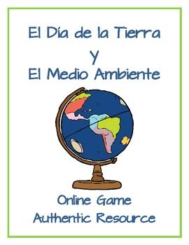 GREAT AUTHENTIC RESOURCE WEBSITE! This pin links to an activity packet using the website http://www.ign.es/ign/flash/mi_amiga_la_tierra/homeTierra.html : Earth Day/Día de la Tierra y El Medio Ambiente - Online Game meant for children in Spain to learn about the earth.