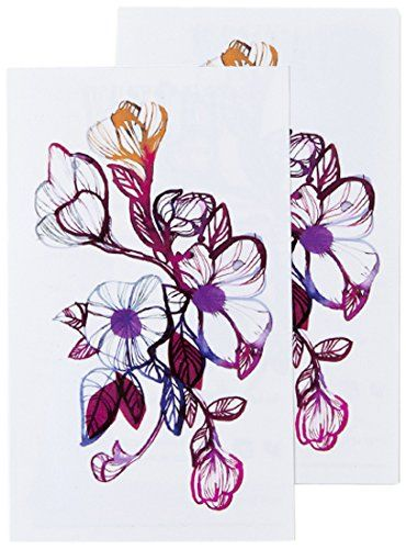 Tattly Temporary Tattoos, Floral Flourish, 0.1 Ounce Tattly Temporary Tattoos