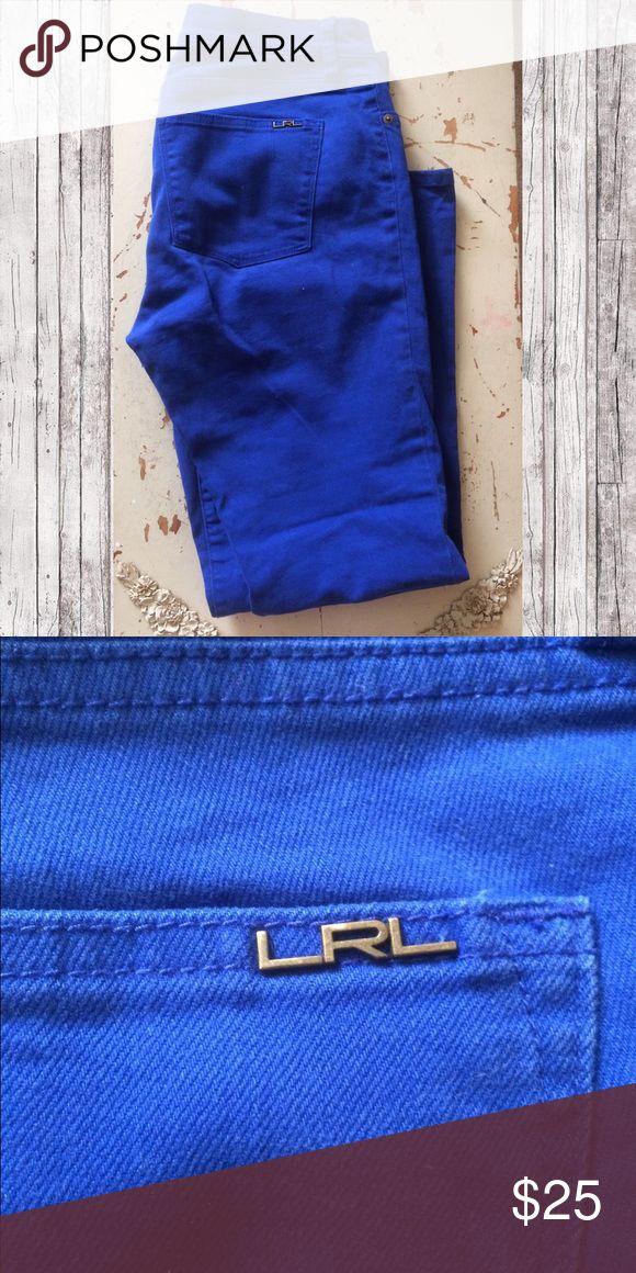 Ralph Lauren Cobalt Jeans Straight leg jeans from LRL, size 10. Vibrant cobalt blue color! Lauren Ralph Lauren Pants Straight Leg