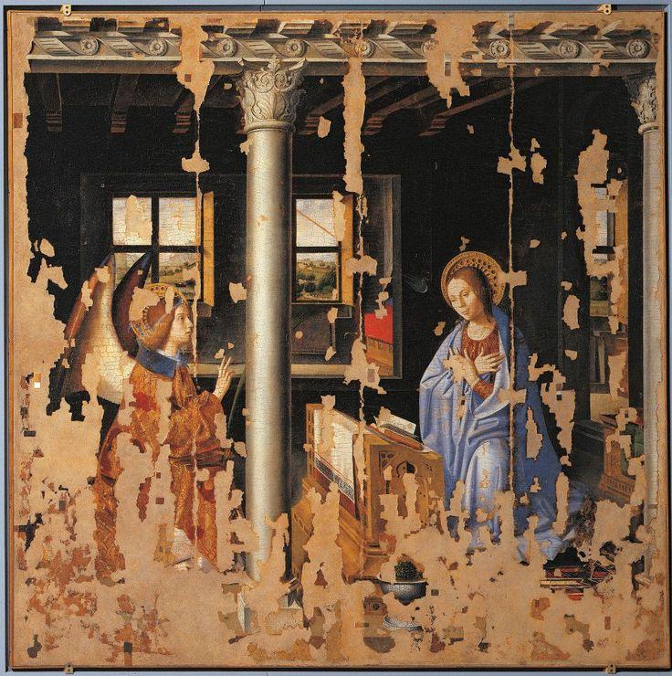 Antonello da Messina, Annunciazione, 1474, olio su tavola, 180 cm × 180 cm, Museo di Palazzo Bellomo, Siracusa
