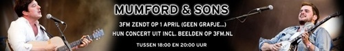 Tonight at 6 pm (dutch time) you can hear the concert from mumford and sons in Amsterdam at march 30th at 3fm.nl