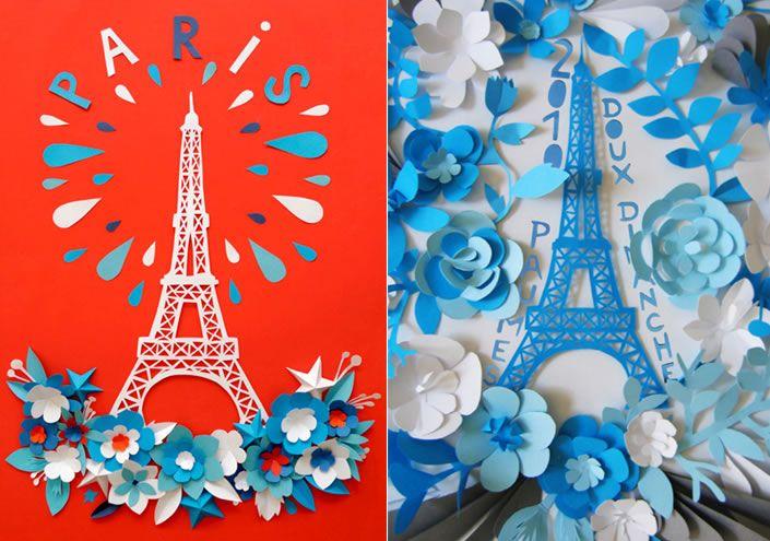 Beautiful paper art by Mathilde Nivet.