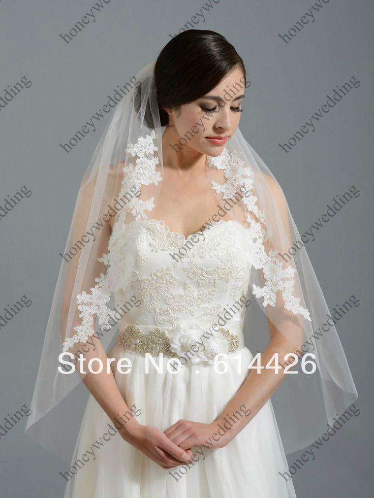Два Слоя Короткие Кот Кристалл Бисера Жемчуг Свадебная Фата Белый свадебные Вуали Свадебные Аксессуары AL5197
