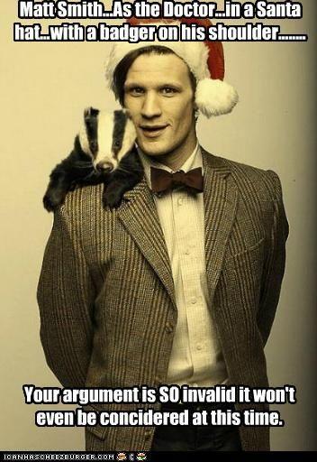 Matt Smith With A Badger