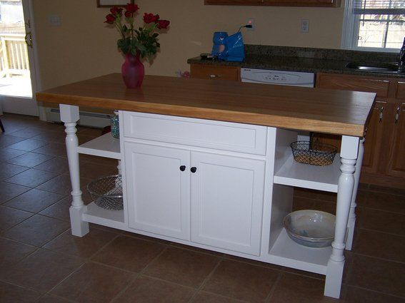 Custom Made Painted Kitchen Island | For My House