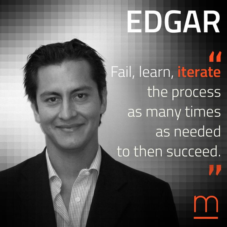 """Iterate again and again."" Welcome Tech-Wiz Business Consultant Edgar Martinez Ceja to our network of Experts for #TheAccelerator2016."