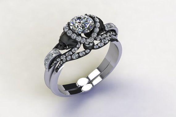 Matching Band For Diamond Vapor Skull Ring Par