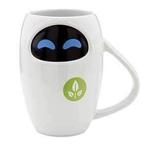 Disney EVE Mug - WALL-E | Disney StoreEVE Mug - WALL-E - EVErybody's favorite Extraterrestrial Vegetation Evaluator is all set to provide some new life when you take in some refreshments with this EVE Mug. Just like WALL-E, you'll be drawn to the adorable 'bot's sleek looks.