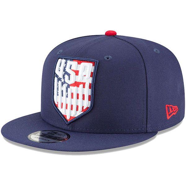 0b4d76ae372 Men s US Soccer New Era Navy Flag Fill 9FIFTY Snapback Adjustable ...