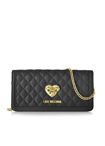Love+Moschino+Quilted+Wallet+On+Chain