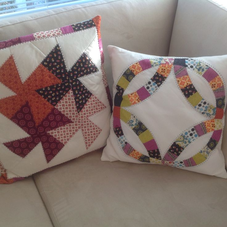 Handquilted pillows by Anu