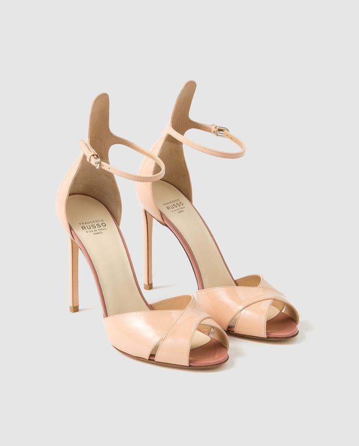 Sandalias de tacón de mujer Francesco Russo de piel en color natural · Francesco Russo · Moda · El Corte Inglés