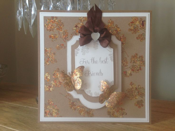 8x8 Card, made by me, using Sentimentally Yours Lush Leaves Stamps and Sentimentally Yours Elegant Family 2 Stamps :-)