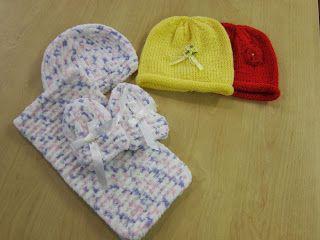 Glasgow Fort Stitch 'N' Bitch: Baby items for Hospice Charity shop by Stephanie
