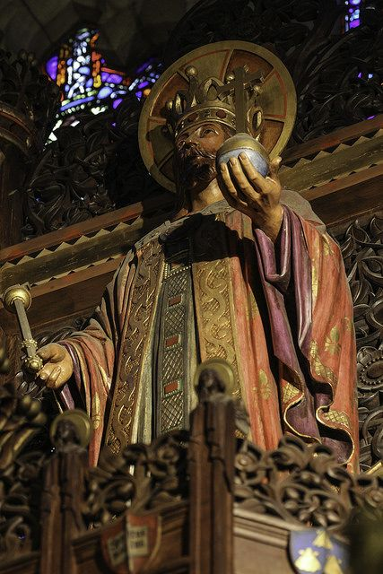 The Lord is King // This oak statue of Christ the King surmounts the reredos of the church of St Vincent Ferrer in New York.