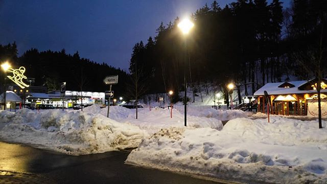 the parking lot in front of the cable car at wurmberg skiing harz braunlage snow winter wonderland itscoldoutside cable car parking instagram photo