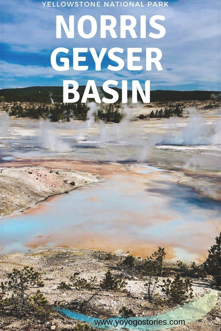 Norris Geyser Basin In Yellowstone National Park in USA