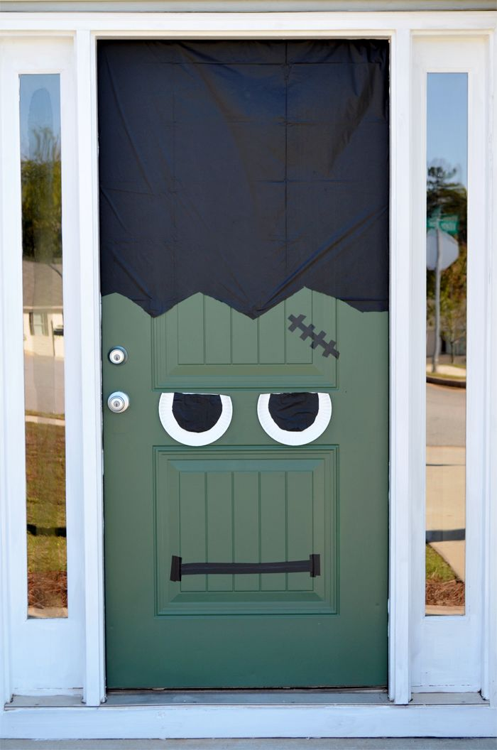Halloween Diy Frankenstein Front Door Amp Pumpkin