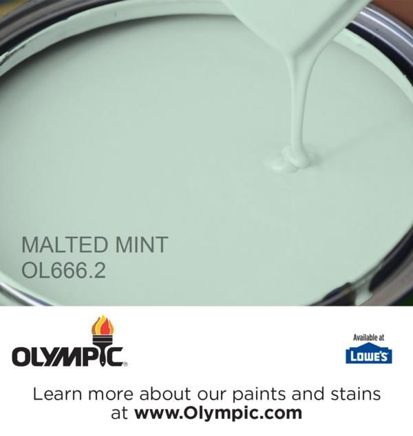 MALTED MINT OL666.2 is a part of the greens collection by Olympic® Paint.