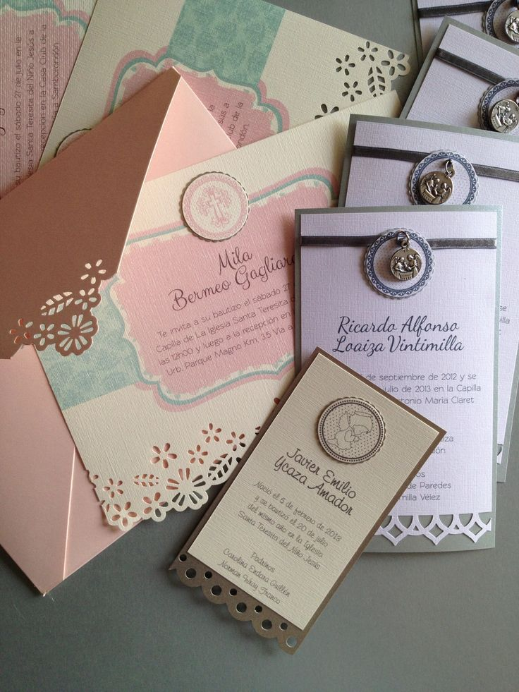 Babyu0027s handmade favors and invitations design by