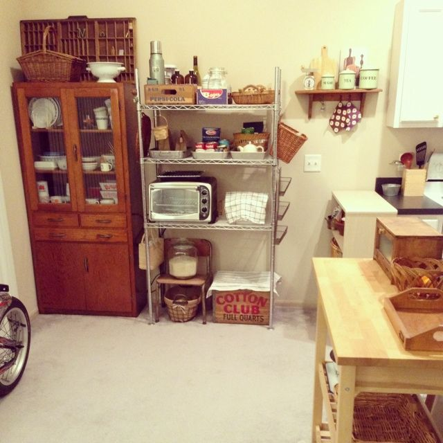 スチールラック/古いもの/食器棚/IKEA/キッチンのインテリア実例 - 2014-01-09 10:18:50   RoomClip(ルームクリップ)