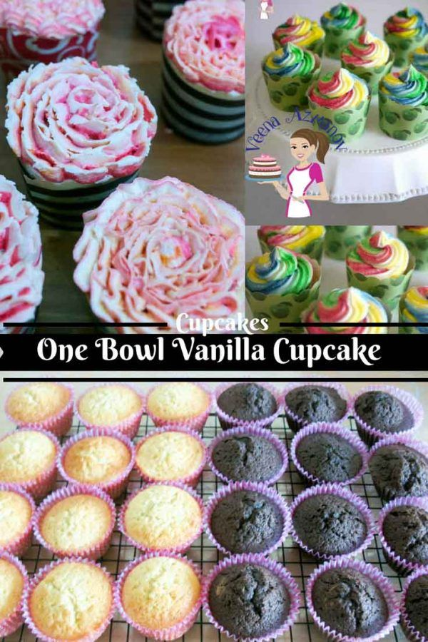 QUICK AND EASY ONE BOWL VANILLA CUPCAKES  Quick and Easy One Bowl Vanilla Cupcakes is a great treat for a simple evening tea, last minute kids play dates or decorated beautifully for party celebration. These also make a great project for kids activities