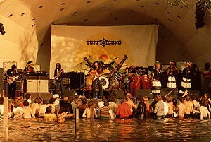 Bob Marley & The Wailers live at Crystal Palace Park during the Uprising Tour