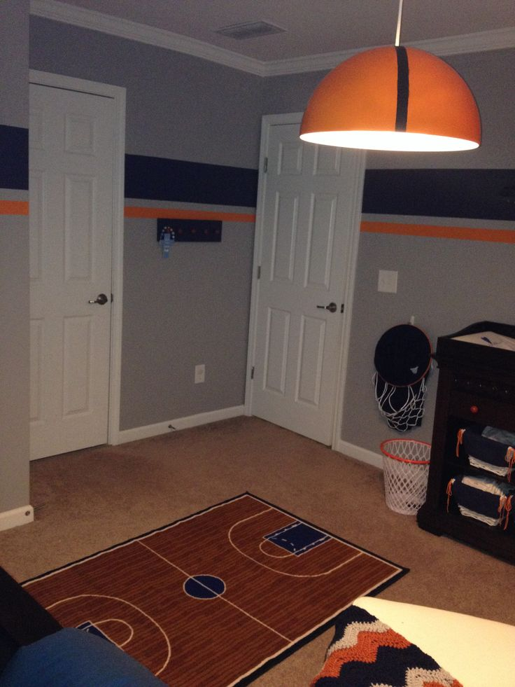 Basketball Court Rug And Other Finishing Touches.