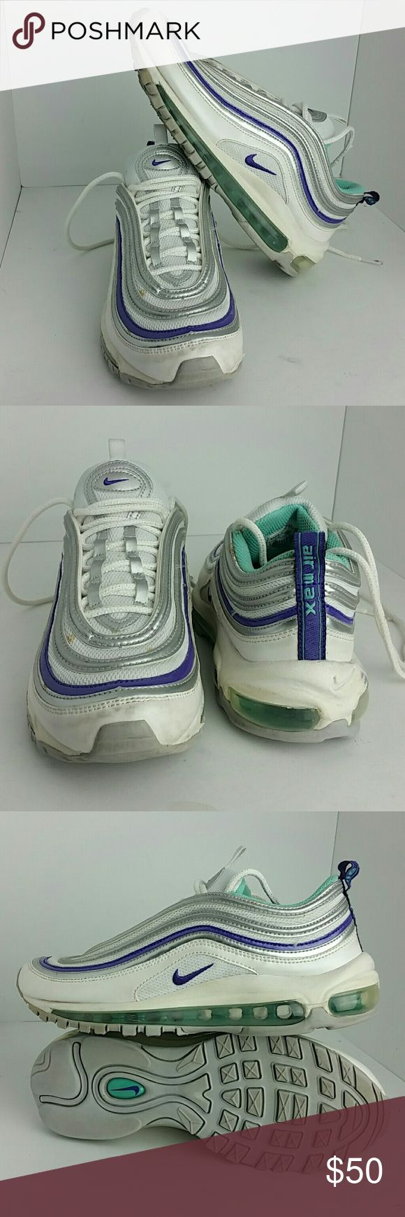 NIKE AIR MAX 97 CL WOMEN/YOUTH SHOES VERY CLEAN INSIDE-OUT   THIS IS A YOUTH SIZE 5.5Y WHICH IS WOMEN SIZE 7  SKE # BK NIKE Shoes Athletic Shoes